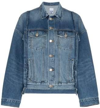 Sjyp oversized panelled denim jacket