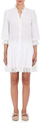 Ulla Johnson Women's Nessa Dobby-Checked Cotton Dress