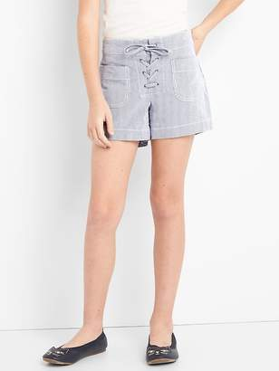 Gap Pinstripe Lace-Up Shorts