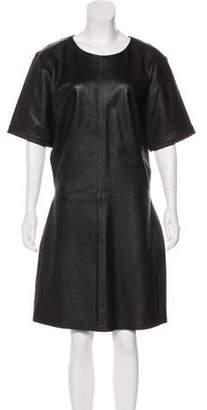Frame Leather Knee-Length Dress w/ Tags