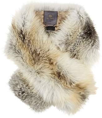 Arabella Lilly E Violetta Womens Golden Icelandic Fox Fur Scarf