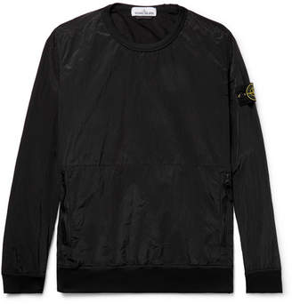 Stone Island Garment-Dyed Nylon Sweatshirt