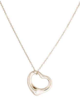 Tiffany & Co. Open Heart Pendant Necklace $95 thestylecure.com