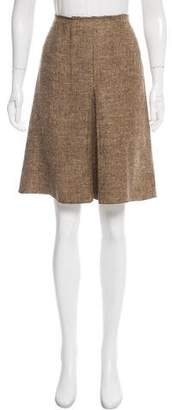 Prada A-Line Tweed Skirt