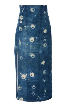 Vintage Chambray High Waist Pencil Skirt