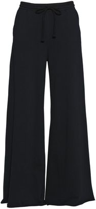 Wide Leg Cotton Jersey Trousers $178 thestylecure.com