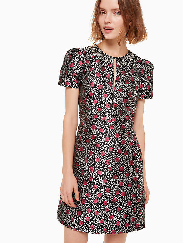 Floral Park Jacquard Dress