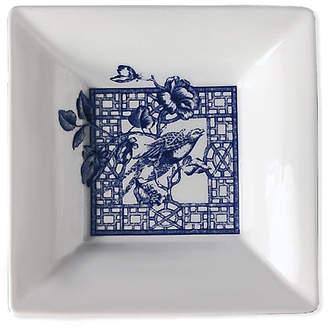 "Caskata 5"" Chinoiserie Trinket Tray - White/Blue"
