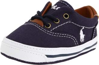 Ralph Lauren Vaughn Crib Shoe (Infant/Toddler) Soft Sole, Canvas 2