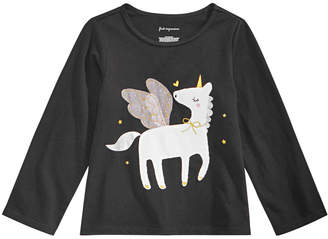 First Impressions Baby Girls Unicorn-Print Cotton T-Shirt
