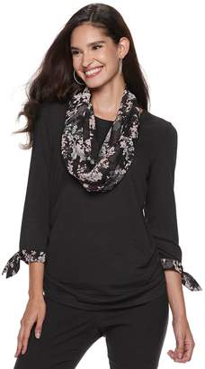 Elle Women's Top & Scarf Set