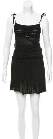 GucciGucci Open Knit Pleated Dress