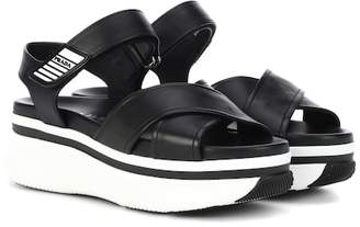 Prada Platform leather sandals