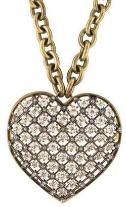 Lanvin Crystal Heart Pendant Necklace