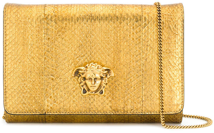 Versace metallic Medusa shoulder bag