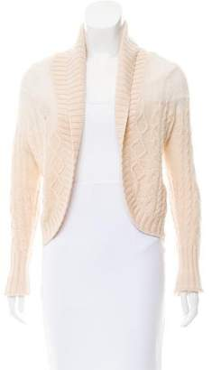 Max Mara Wool-Cashmere Cable Knit Cardigan