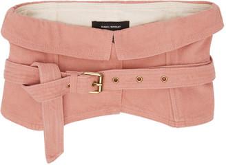 Isabel Marant Pink Denim Erika Belt $305 thestylecure.com