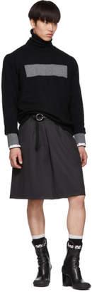 Random Identities Grey Wool Twill Skirt
