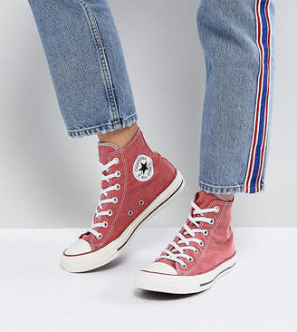 Converse Chuck Taylor All Star Hi Trainers In Stonewashed Red 5a2fbc542