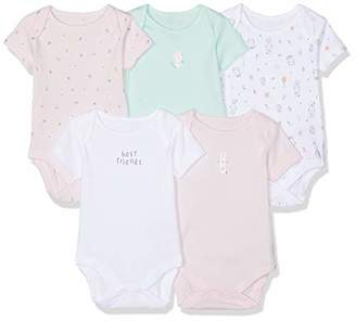 Mothercare Baby Girls Cat and Bunny Bodysuits - 5 Pack Bodysuit,(Manufacturer Size:62CM)