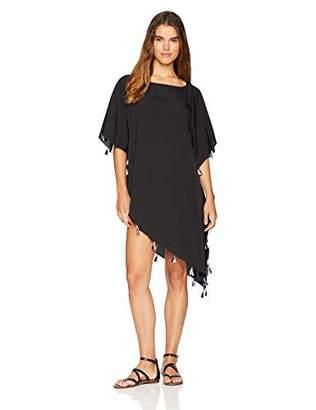 Oasis Wild Beachwear Women's Beachwear Swimwear Tassel Cover Up Solid Slant Kaftan