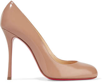 Christian Louboutin Fifetish 100 Patent-leather Pumps - Neutral