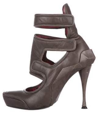 Celine Leather Cutout Pumps