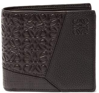 Loewe Puzzle Leather Bifold Wallet - Mens - Black
