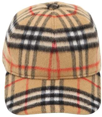 Burberry Vintage Check Wool Baseball Hat