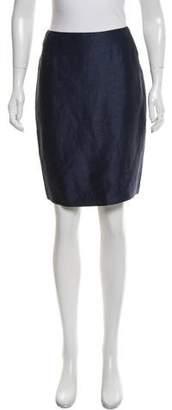 Ungaro Emanuel by Linen & Silk-Blend Pencil Skirt