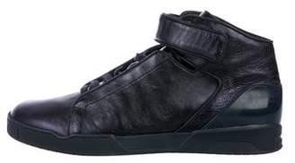 Gucci Metallic High-Top Sneakers