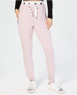 Material Girl Juniors' Banded Graphic Jogger Pants