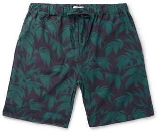 Desmond & Dempsey Byron Printed Cotton Pyjama Shorts