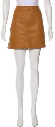 DKNY Leather Mini Skirt