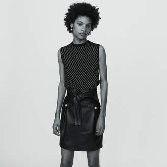 Maje Short leather skirt