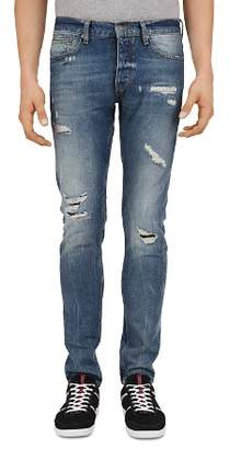 The Kooples Distressed Slim Fit Jeans in Light Blue