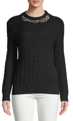 Erdem Beaded Wool Sweater