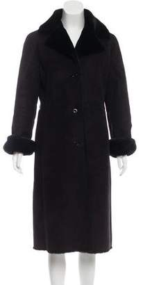 Brooks Brothers Long Faux Shearling Coat