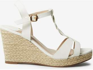 Dorothy Perkins Womens Wide Fit White 'Razzle' Wedges