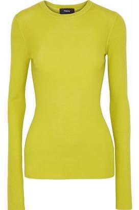 Theory Mirzi Neon Ribbed Merino Wool Sweater