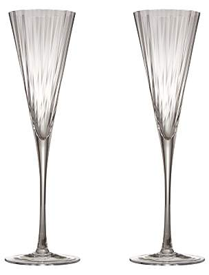 John Lewis & Partners Optic Flute Drinking Glasses, Set of 2, 100ml, Clear