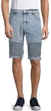 X-RAY Jeans Moto Denim Shorts