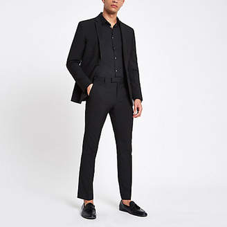 River Island Mens Black skinny suit trousers