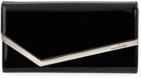 Jimmy Choo Emmie Patent Leather Clutch Bag