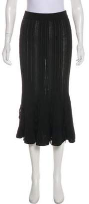 Jonathan Simkhai Knit Midi Skirt Black Knit Midi Skirt