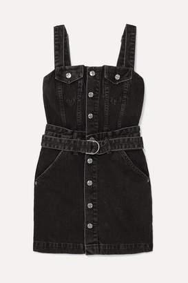 Ksubi Deejay Denim Mini Dress - Black