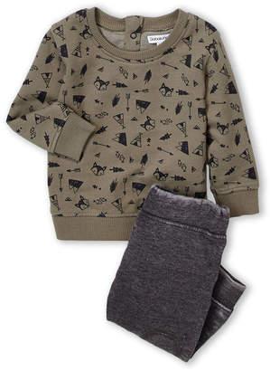 Babaluno (Newborn Boys) Two-Piece Nature Sweatshirt & Joggers Set