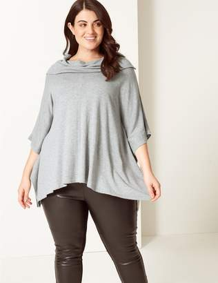 Marks and Spencer CURVE Cowl Neck 3/4 Sleeve Jumper