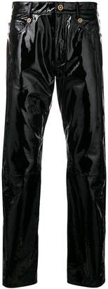 Versace lambskin trousers