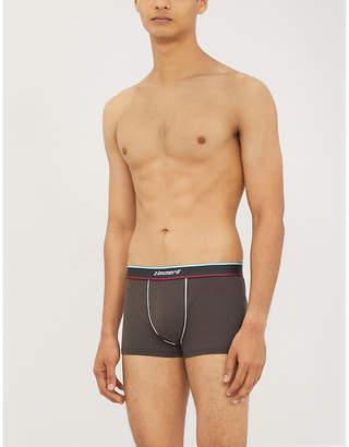 Branded stretch-cotton trunks